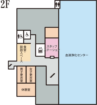 下田循環器・腎臓クリニック2階